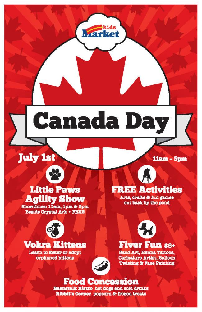 Canada Day Event At Kids Market Kids Out And About Vancouver